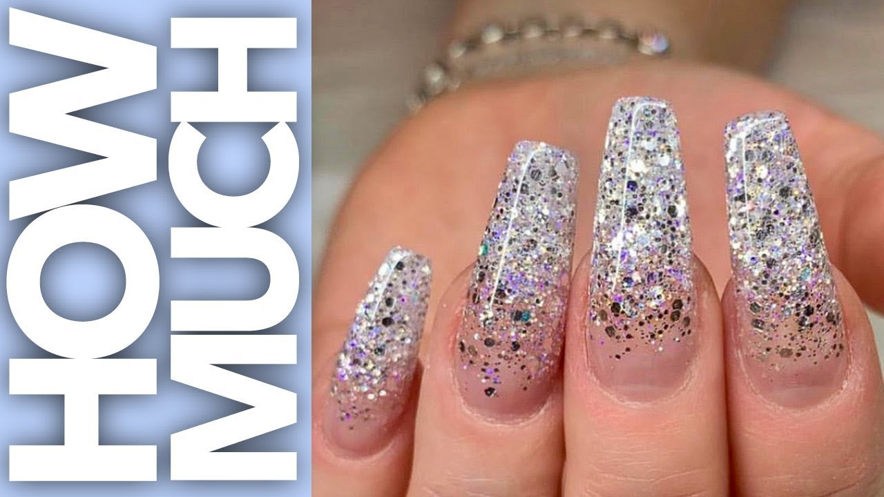 How Much - Extreme Glitter Ombre - Gel Nails - YouTube