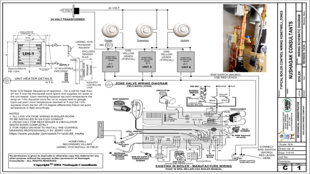 Updated Amp Corrected Zone Valve Wiring Schematic