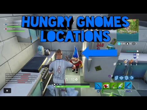 FORTNITE HUNGRY GNOMES LOCATIONS! (Fortnite Battle Royale)