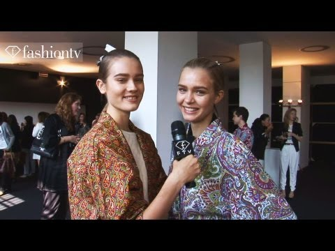 Top Models Backstage at Etro Spring/Summer 2013 | Milan Fashion Week | FashionTV