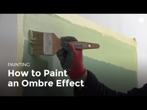 How to Paint a Room: Ombre Effect   DIY Projects