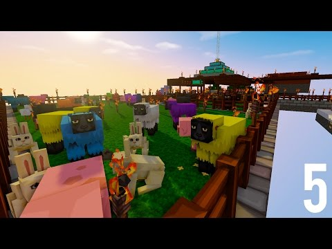 Minecraft Sky Island [5] - DOUBLE ISLAND VISIT - SnakeMC Lucky Sky Island Minecraft Letsplay