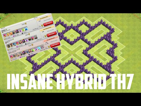 INSANE MAX TH7 HYBRID BASE | +300 Trophies in 1 Hour [Clash of Clans Episode 8]