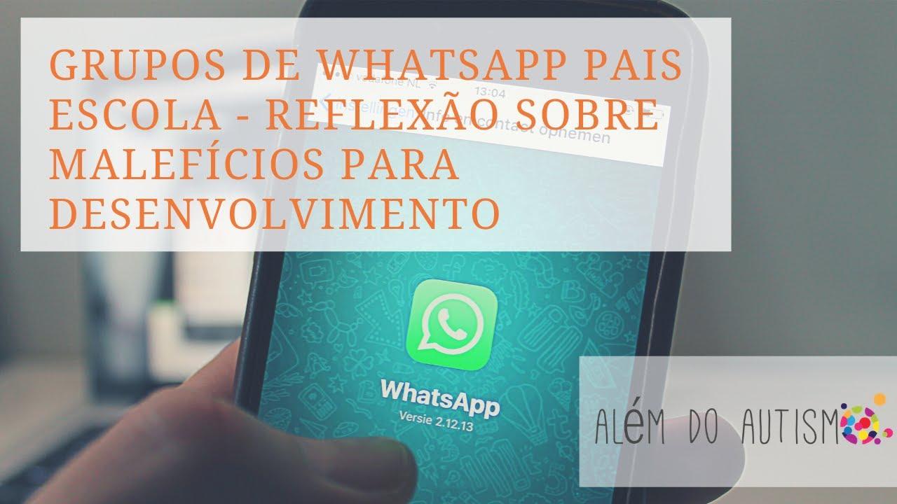 Reflexao Sobre Grupos Whatsapp Pais Escola