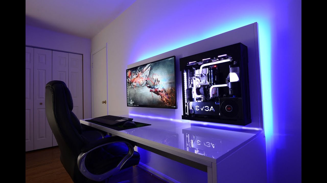 Lian Li Custom Watercooled Wall Mounted Skylake I7 Gaming