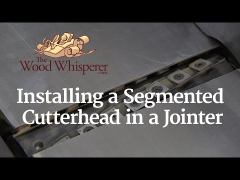 218 - Installing a Segmented Cutterhead in a Jointer - The
