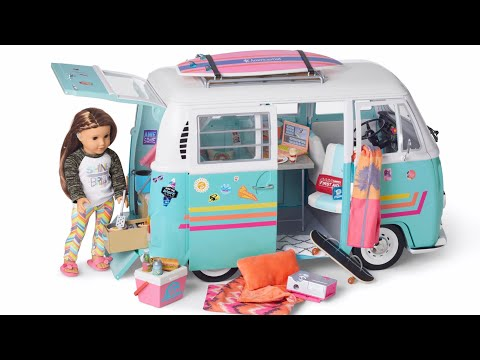 Amazing Surf Van For American Girl Joss Kendrick - 2020 Girl Of The Year - NEW