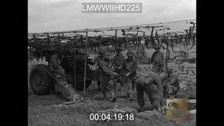 KNOCKED OUT NAZI ARMOR NORTH OF ST. AUBIN D'APPENAI; FRENCH CIVILIANS SHOW US TROOPS P - LMWWIIHD225
