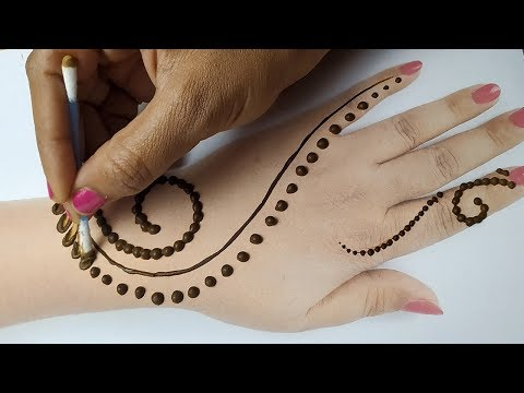 आसान मेहँदी डिज़ाइन - दिवाली स्पेशल गोल टिक्की शेडेड मेहँदी - Latest Diwali Mehndi Design 2019