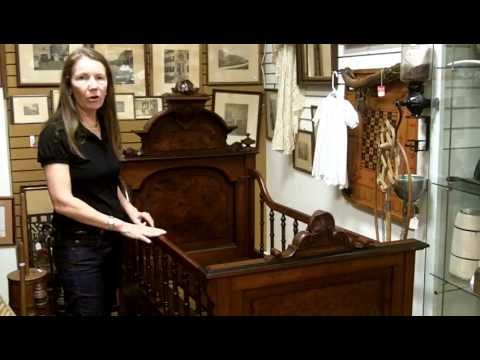 Antique baby bed crib, Antique furniture from our antiques mall.