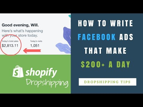 How I Write FACEBOOK ADS that make $200+ A DAY for My SHOPIFY DROPSHIPPING Store