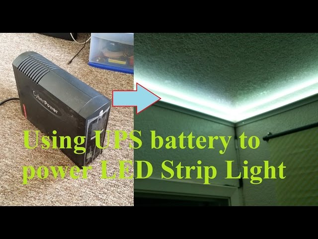 Diy hack mod longer working ups power led light strip aloadofball Images
