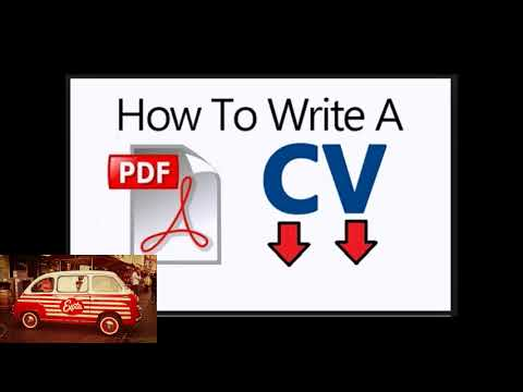 How To Write Cv Pdf Download