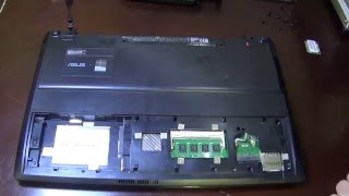 Как разобрать ноутбук asus f55v How to disassemble laptop Asus F55V