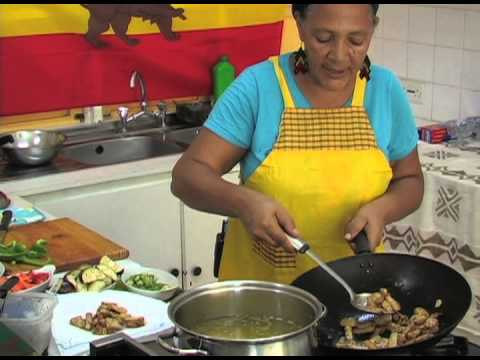 Veg lo mein on We Cookin': Eclectic Vincy Cuisine