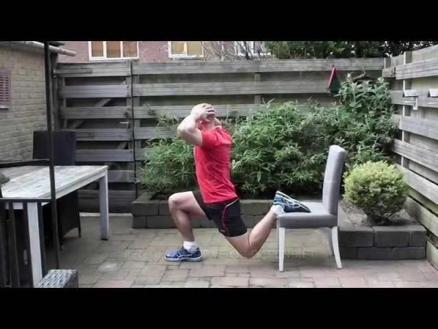 Bulgarian Split Squat - Beenspieren thuis trainen nr 10 van 25