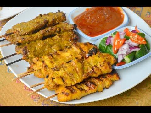 How to Make Chicken Satay  ไก่สะเต๊ะ