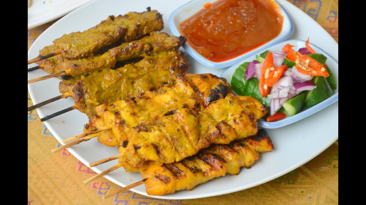 How to Make Chicken Satay ไก่สะเต๊ะ - YouTube