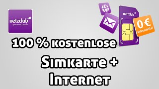 Simkarte + Internet 100% kostenlos ! Netzclub Simkarte Review HD (Deutsch/German) - MrTechCommander