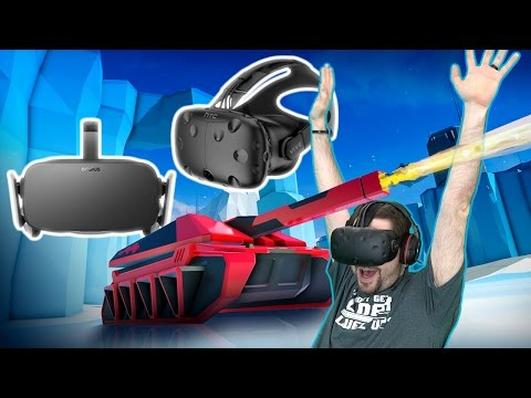 Virtual Reality Tank Combat on the Vive AND Oculus AND PSVR!! - Battlezone Beta