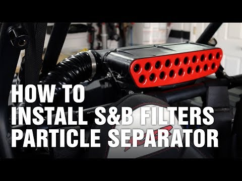 S&B Filters Particle Separator for Polaris RZR XP 1000
