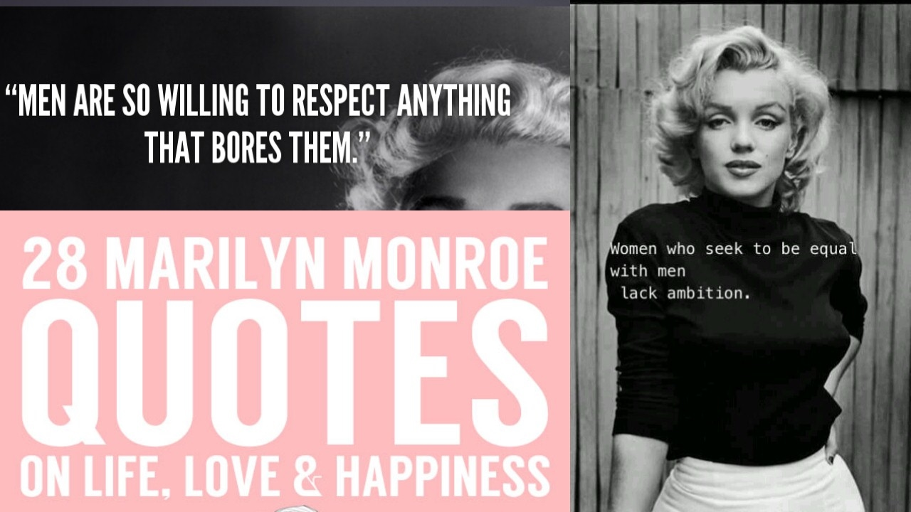 Marilyn Monroe Life Changing Quotes Youtube