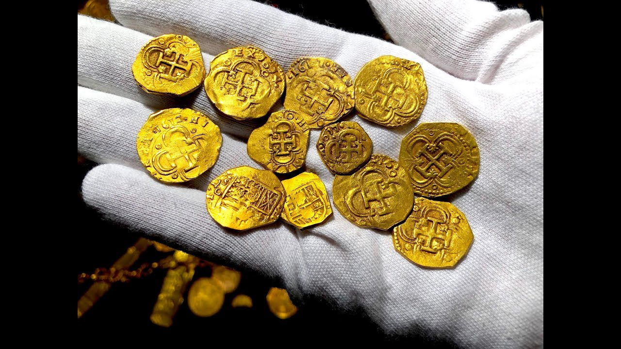 AUTHENTIC GOLD PIRATE TREASURE COINS DOUBLOONS GIMME THE LOOT