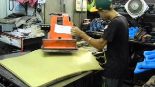The making of Kuna Kicks! Cutting the all natural rubber soles