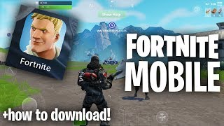 """FORTNITE MOBILE! """"Pro"""" Mobile Gameplay + How to Download! (First Fortnite Stream)"""