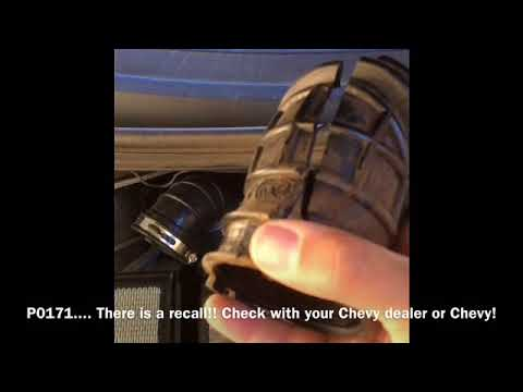 2014 Chevy Sonic Engine Code P0171 Air Intake Hose Replacement