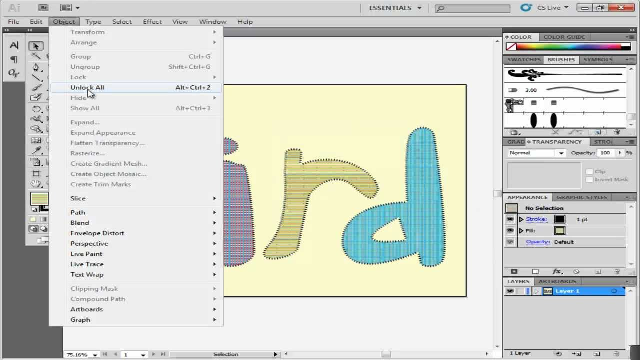 How to create a stitched type effect in Illustrator