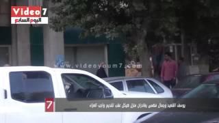 بالفيديو..يوسف القعيد وجمال فهمى يغادران منزل هيكل عقب تقديم واجب العزاء