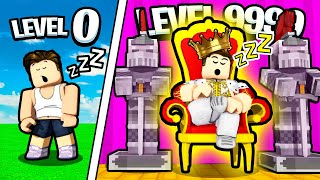 GETTING MAX LEVEL SLEEP in Roblox Sleeping Simulator!