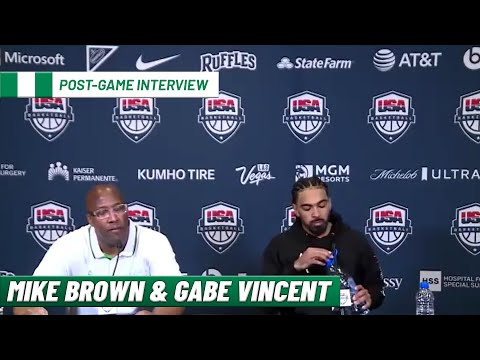 Mike Brown and Gabe Vincent on beating Team USA | Team Nigeria Post-Game Interview