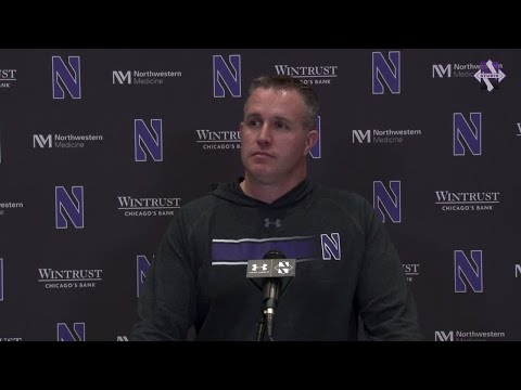 Football - Pat Fitzgerald Ohio State Monday Presser (11/26/18)