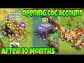 Opening My Coc Account After 10 Months | Clash Of Clans In Hindi