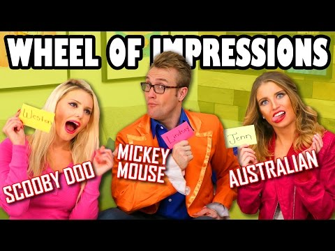 Wheel of Impressions Jenn vs Weston vs Lindsey. Totally TV