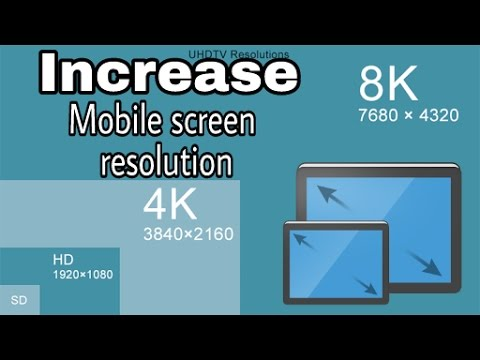 How to Increase mobile screen resolution size & make your mobile full HD in  hindi