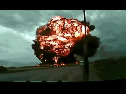 Dramatic footage: Cargo Boeing 747 crashes at Bagram Airfiel