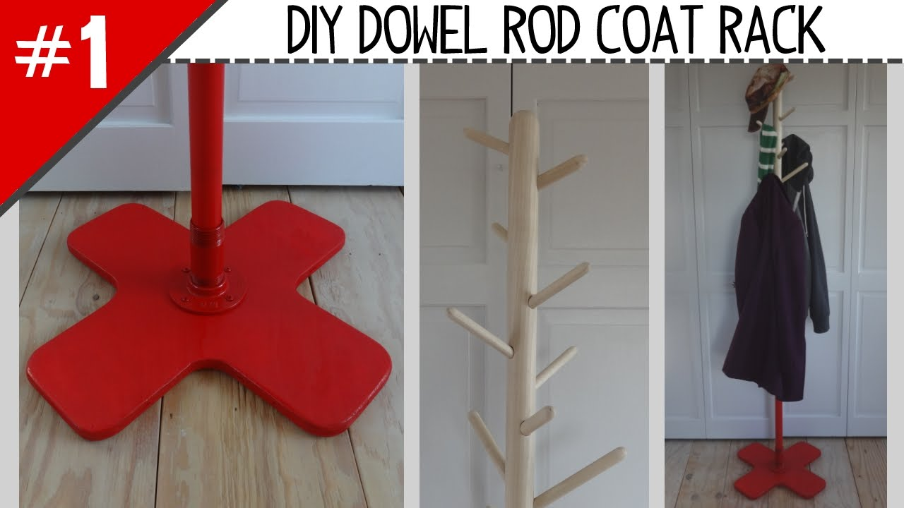 Diy Dowel Rod Coat Rack Part 1 Of 2
