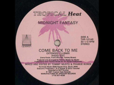 Midnight Fantasy - Come back to me (extended club mix)