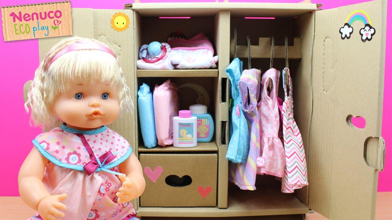 Aparador Wengue Barato ~ Armario Eco Play de Bebé Nenuco en español Ordenamos la ropa de Nenuco en el armario nuevo