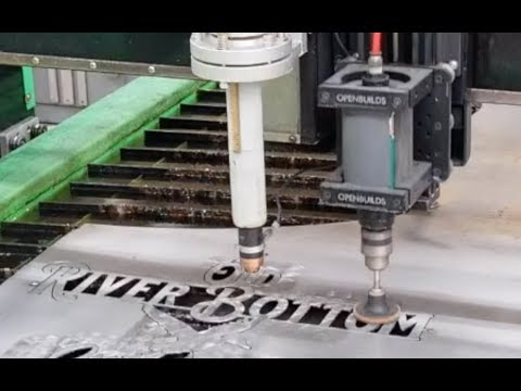Experimenting with CNC Plasma Table Live Spindle with Dirt Road Metalworks