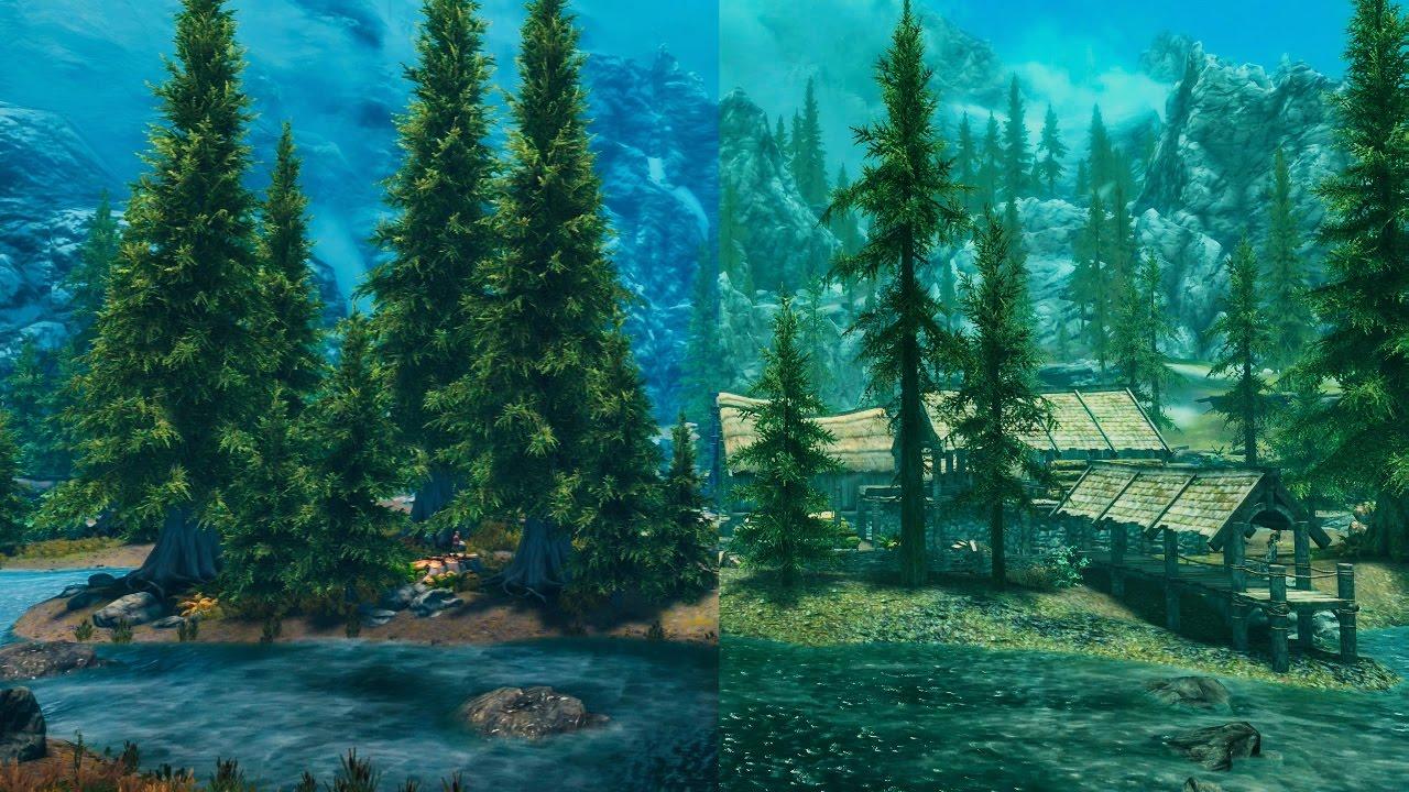 Skyrim Special Edition: Best Console Graphic Mods Vs  Vanilla