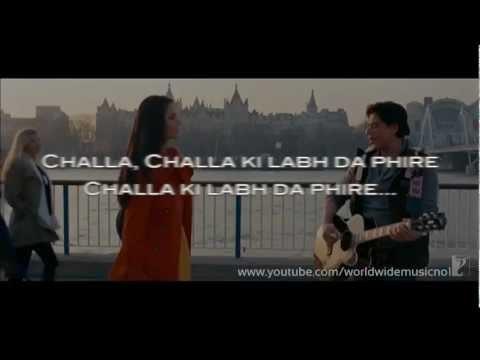 Jab Tak Hai Jaan : Challa Karaoke With Lyrics (Instrumental)