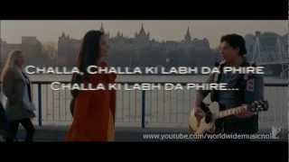Jab Tak Hai Jaan : Challa Karaoke With Lyrics (Instrumental)
