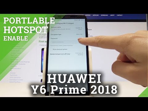How To Enable Portable Hotspot HUAWEI Y6 Prime 2018 - Wi-Fi Sharing / Set Up Hotspot