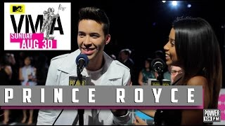 Prince Royce Talks About Using Handcuffs In Bed; New Music at VMAs