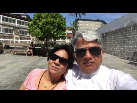 Aruna & Hari Sharma iPhone7Plus Video Enjoying Sunshine Elorrieta Plaza Bilbao, Spain Jun 07, 2017
