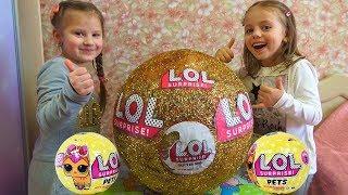 LOL Surprise ОГРОМНЫЙ ЗОЛОТОЙ ШАР LOL Dolls Куклы ЛОЛ Питомцы LoL Pets Surprise Видео для девочек